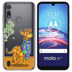 Funda Gel Transparente para Motorola Moto e6s diseño Jirafa Dibujos