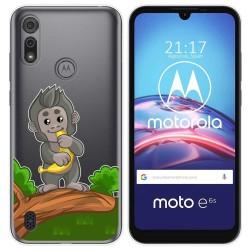 Funda Gel Transparente para Motorola Moto e6s diseño Mono Dibujos