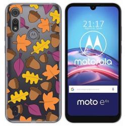 Funda Gel Transparente para Motorola Moto e6s diseño Otoño Dibujos
