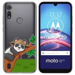 Funda Gel Transparente para Motorola Moto e6s diseño Panda Dibujos