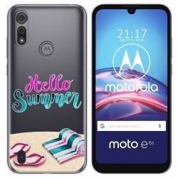 Funda Gel Transparente para Motorola Moto e6s diseño Summer Dibujos