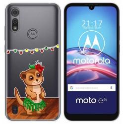 Funda Gel Transparente para Motorola Moto e6s diseño Suricata Dibujos