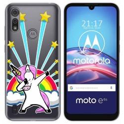 Funda Gel Transparente para Motorola Moto e6s diseño Unicornio Dibujos