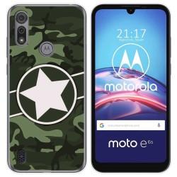 Funda Gel Tpu para Motorola Moto e6s diseño Camuflaje 01 Dibujos