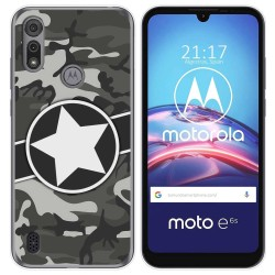 Funda Gel Tpu para Motorola Moto e6s diseño Camuflaje 02 Dibujos