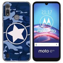 Funda Gel Tpu para Motorola Moto e6s diseño Camuflaje 03 Dibujos