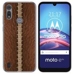 Funda Gel Tpu para Motorola Moto e6s diseño Cuero 01 Dibujos