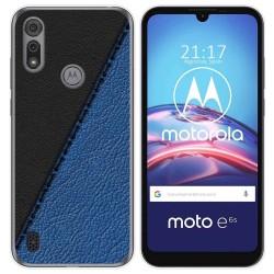 Funda Gel Tpu para Motorola Moto e6s diseño Cuero 02 Dibujos