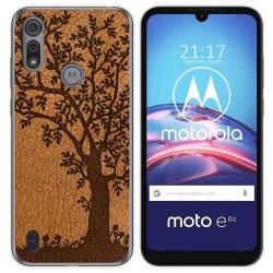 Funda Gel Tpu para Motorola Moto e6s diseño Cuero 03 Dibujos