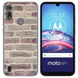Funda Gel Tpu para Motorola Moto e6s diseño Ladrillo 01 Dibujos