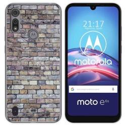 Funda Gel Tpu para Motorola Moto e6s diseño Ladrillo 02 Dibujos