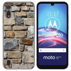 Funda Gel Tpu para Motorola Moto e6s diseño Ladrillo 03 Dibujos