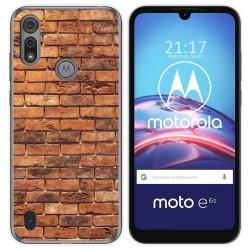 Funda Gel Tpu para Motorola Moto e6s diseño Ladrillo 04 Dibujos