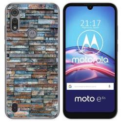Funda Gel Tpu para Motorola Moto e6s diseño Ladrillo 05 Dibujos