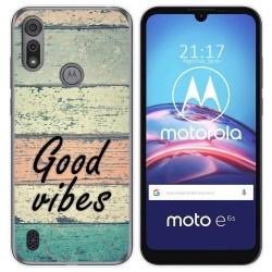 Funda Gel Tpu para Motorola Moto e6s diseño Madera 01 Dibujos