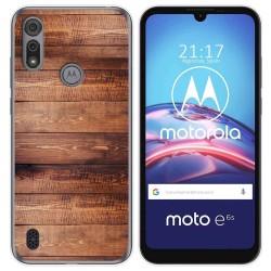 Funda Gel Tpu para Motorola Moto e6s diseño Madera 02 Dibujos