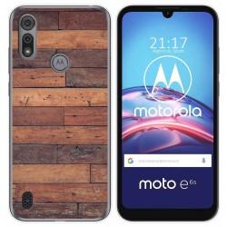 Funda Gel Tpu para Motorola Moto e6s diseño Madera 03 Dibujos