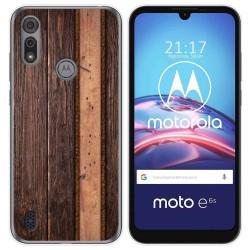 Funda Gel Tpu para Motorola Moto e6s diseño Madera 05 Dibujos