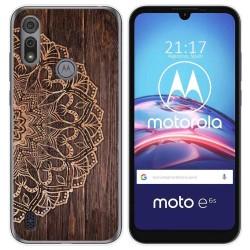 Funda Gel Tpu para Motorola Moto e6s diseño Madera 06 Dibujos
