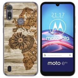 Funda Gel Tpu para Motorola Moto e6s diseño Madera 07 Dibujos