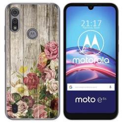 Funda Gel Tpu para Motorola Moto e6s diseño Madera 08 Dibujos