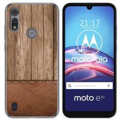 Funda Gel Tpu para Motorola Moto e6s diseño Madera 09 Dibujos