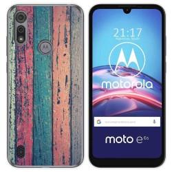 Funda Gel Tpu para Motorola Moto e6s diseño Madera 10 Dibujos