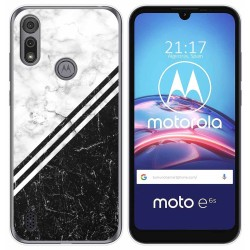 Funda Gel Tpu para Motorola Moto e6s diseño Mármol 01 Dibujos