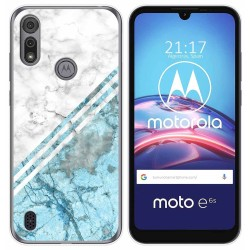 Funda Gel Tpu para Motorola Moto e6s diseño Mármol 02 Dibujos