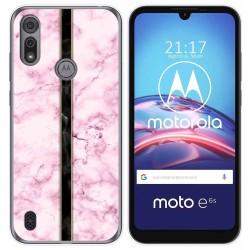 Funda Gel Tpu para Motorola Moto e6s diseño Mármol 04 Dibujos