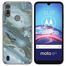 Funda Gel Tpu para Motorola Moto e6s diseño Mármol 09 Dibujos