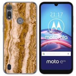 Funda Gel Tpu para Motorola Moto e6s diseño Mármol 10 Dibujos