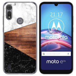 Funda Gel Tpu para Motorola Moto e6s diseño Mármol 11 Dibujos
