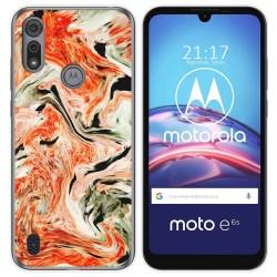 Funda Gel Tpu para Motorola Moto e6s diseño Mármol 12 Dibujos