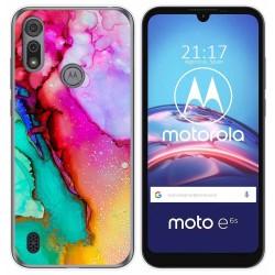 Funda Gel Tpu para Motorola Moto e6s diseño Mármol 15 Dibujos