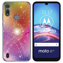 Funda Gel Tpu para Motorola Moto e6s diseño Abstracto Dibujos