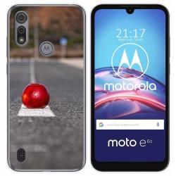 Funda Gel Tpu para Motorola Moto e6s diseño Apple Dibujos