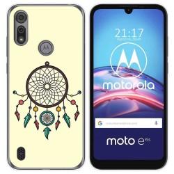 Funda Gel Tpu para Motorola Moto e6s diseño Atrapasueños Dibujos
