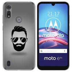 Funda Gel Tpu para Motorola Moto e6s diseño Barba Dibujos