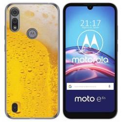 Funda Gel Tpu para Motorola Moto e6s diseño Cerveza Dibujos