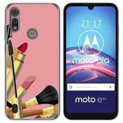 Funda Gel Tpu para Motorola Moto e6s diseño Brochas Dibujos