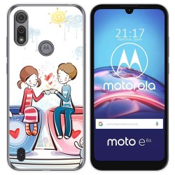 Funda Gel Tpu para Motorola Moto e6s diseño Café Dibujos