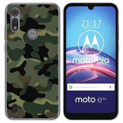 Funda Gel Tpu para Motorola Moto e6s diseño Camuflaje Dibujos