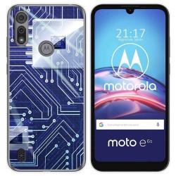 Funda Gel Tpu para Motorola Moto e6s diseño Circuito Dibujos