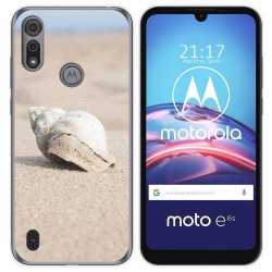 Funda Gel Tpu para Motorola Moto e6s diseño Concha Dibujos