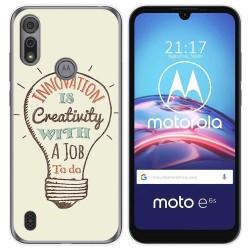 Funda Gel Tpu para Motorola Moto e6s diseño Creativity Dibujos