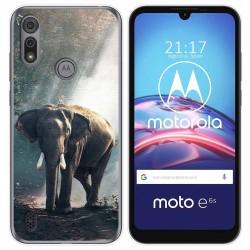 Funda Gel Tpu para Motorola Moto e6s diseño Elefante Dibujos
