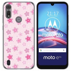 Funda Gel Tpu para Motorola Moto e6s diseño Flores Dibujos