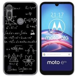 Funda Gel Tpu para Motorola Moto e6s diseño Formulas Dibujos