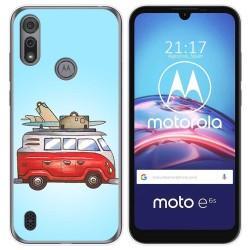 Funda Gel Tpu para Motorola Moto e6s diseño Furgoneta Dibujos